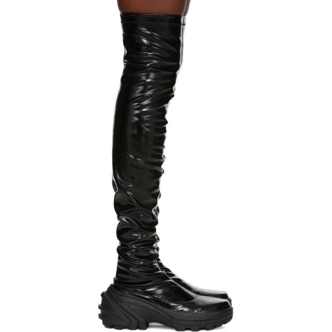 Photo: 1017 ALYX 9SM Black SKX Sole Thigh High Boots