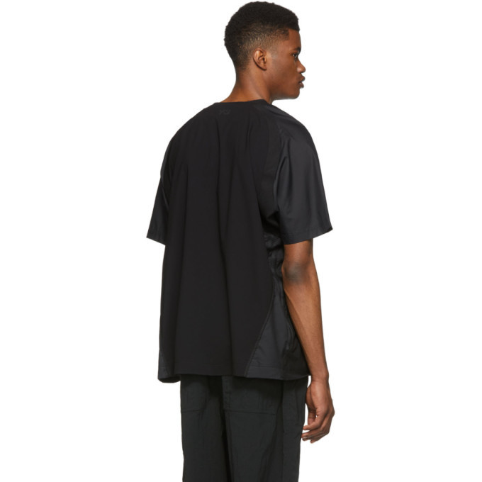 Y-3 Black Nylon T-Shirt