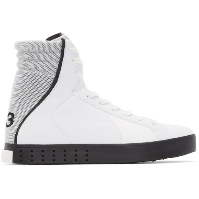 Y-3 White Mid LT High-Top Sneakers