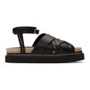 3.1 Phillip Lim Black Yasmine Platform Espadrille Sandals