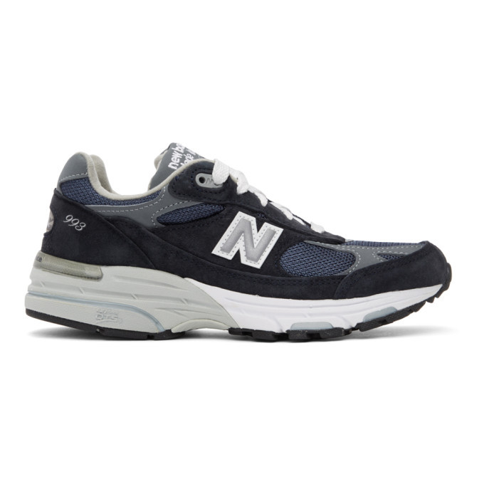 Photo: New Balance Navy and Grey US Made 993 Sneakers