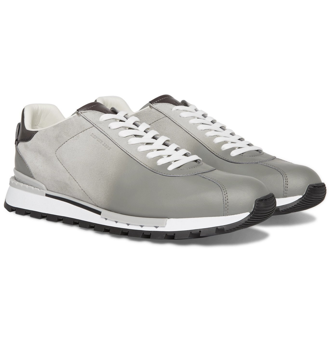 Photo: Berluti - Fast Track Torino Suede and Leather Sneakers - Gray