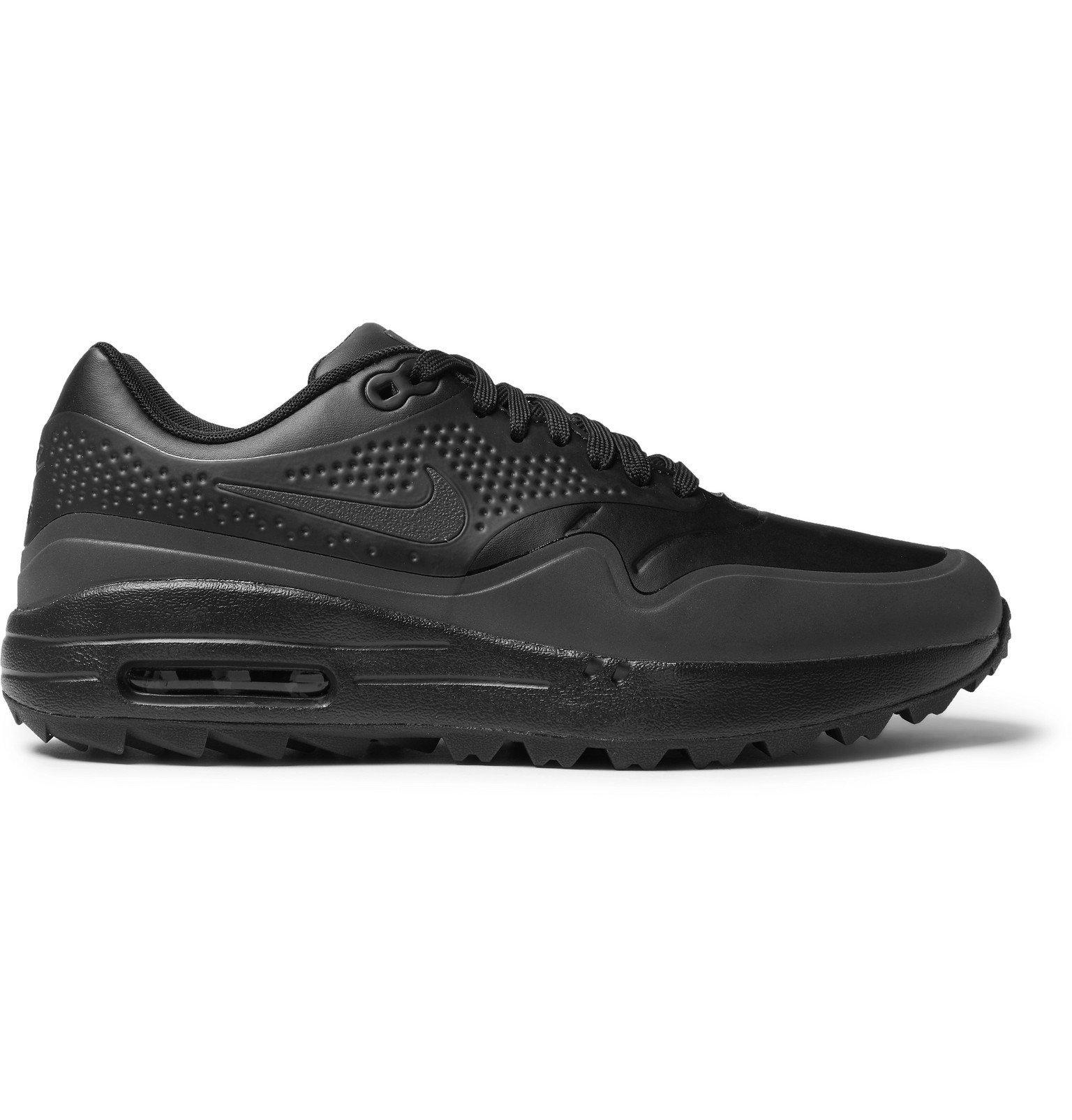 Nike Golf - Air Max 1G Coated-Mesh Golf Shoes - Black Nike Golf