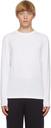 Giorgio Armani White Jersey Long Sleeve T-Shirt