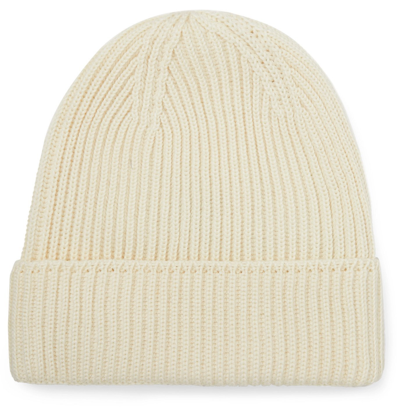 Photo: S.N.S. Herning - Mental Ribbed Virgin Wool Beanie - Neutrals