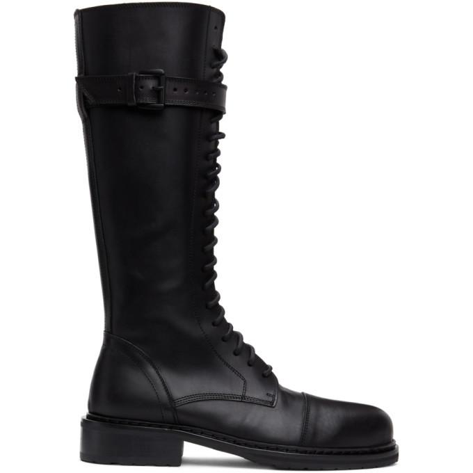 Photo: Ann Demeulemeester Black High Combat Boots
