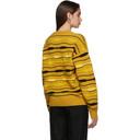 NAPA by Martine Rose Yellow Striped Knit Crewneck Sweater