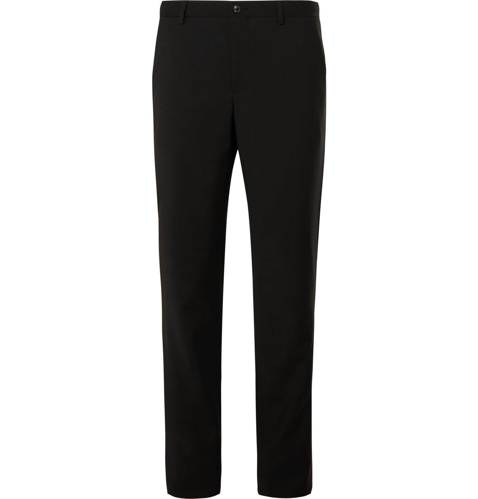 Photo: Giorgio Armani - Slim-Fit Mulberry Silk Satin-Trimmed Virgin Wool Tuxedo Trousers - Black