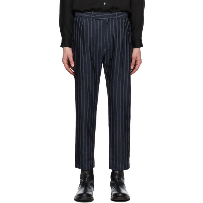 Photo: Ann Demeulemeester Navy Waveson Trousers