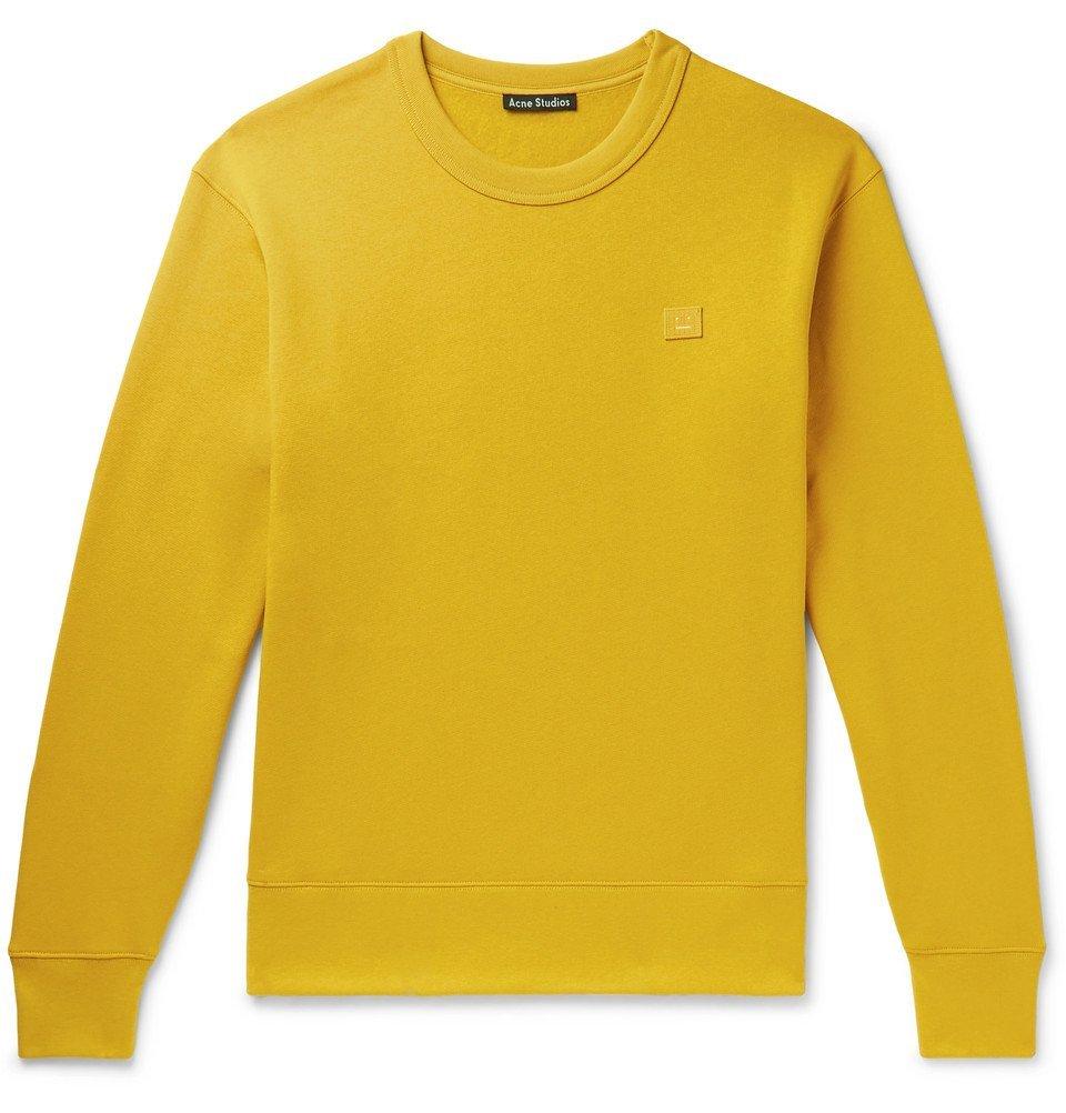 Acne Studios - Fairview Fleece-Back Cotton-Jersey Sweatshirt - Yellow