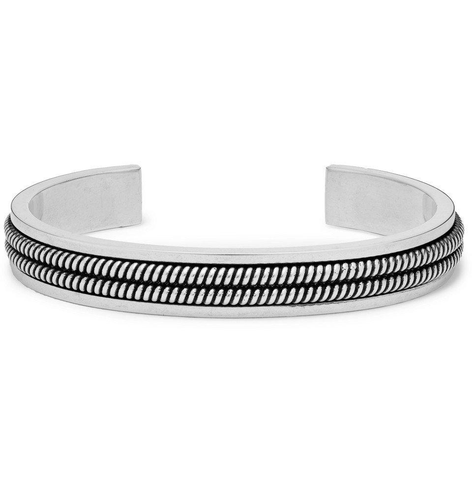 Photo: Saint Laurent - Oxidised Silver-Tone Cuff - Silver