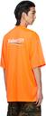 Balenciaga Orange Political Campaign Large Fit T-Shirt