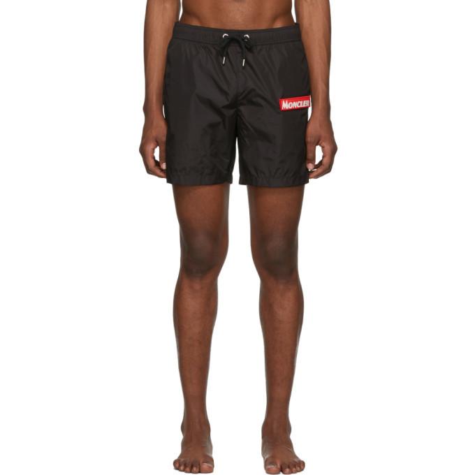 Photo: Moncler Black Boxer Bare Swim Shorts