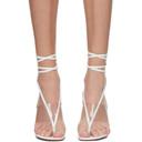 Amina Muaddi White Nappa Zula Sandals