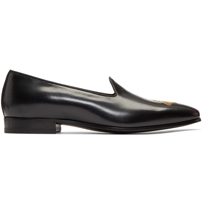 Photo: Gucci Black Bee Gallipoli Loafers