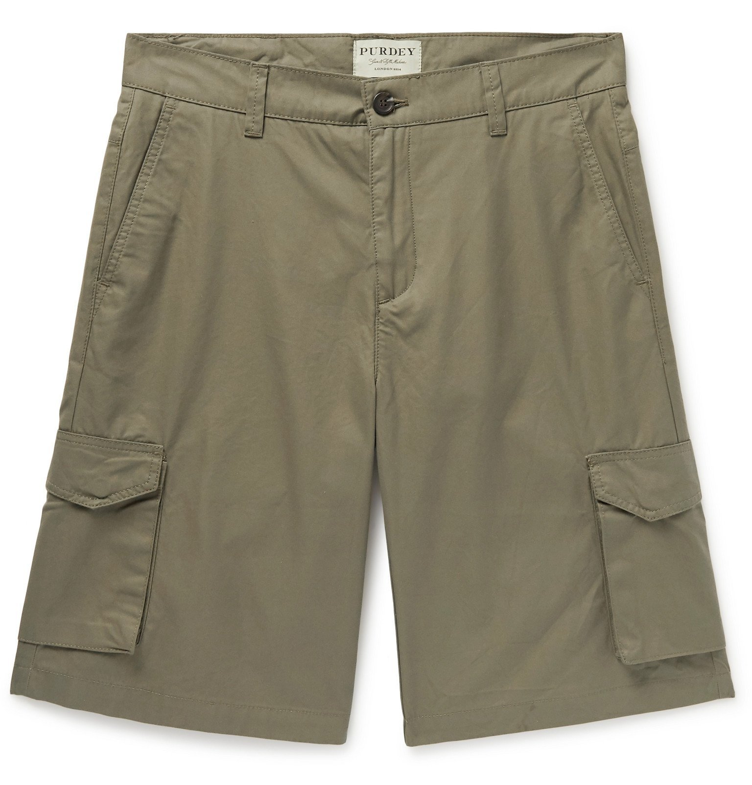 Photo: James Purdey & Sons - Cotton-Ventile Cargo Shorts - Green