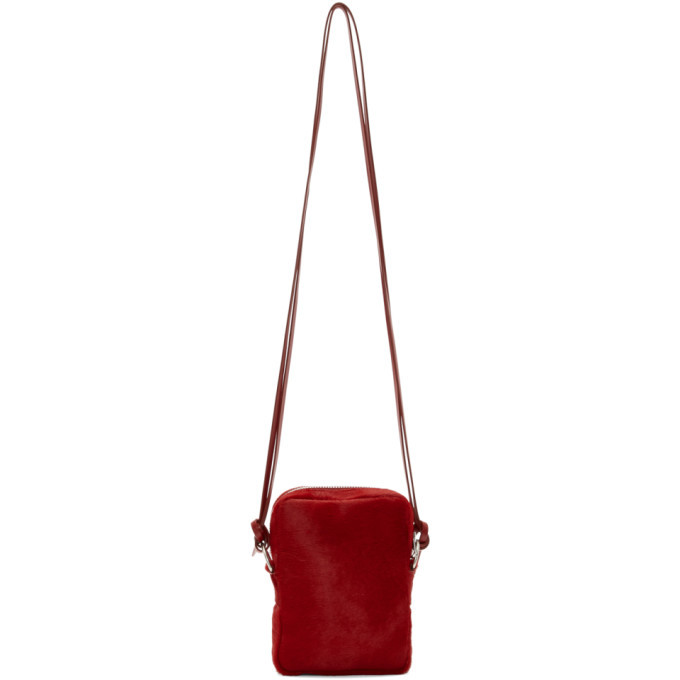 Photo: Our Legacy Red Mini Pony Hair Delay Bag