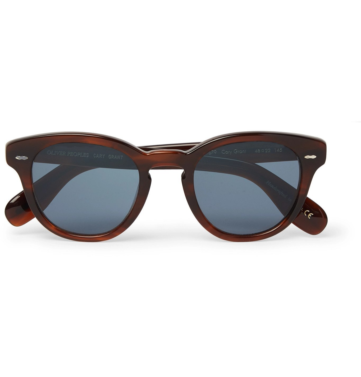 Photo: Oliver Peoples - Cary Grant Round-Frame Tortoiseshell Acetate Sunglasses - Tortoiseshell