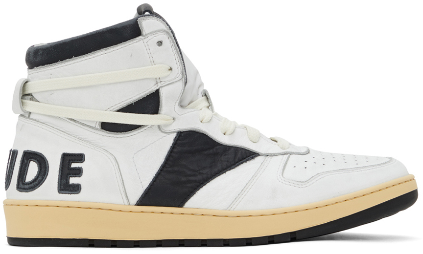 Photo: Rhude White & Black Rhecess Hi Sneakers