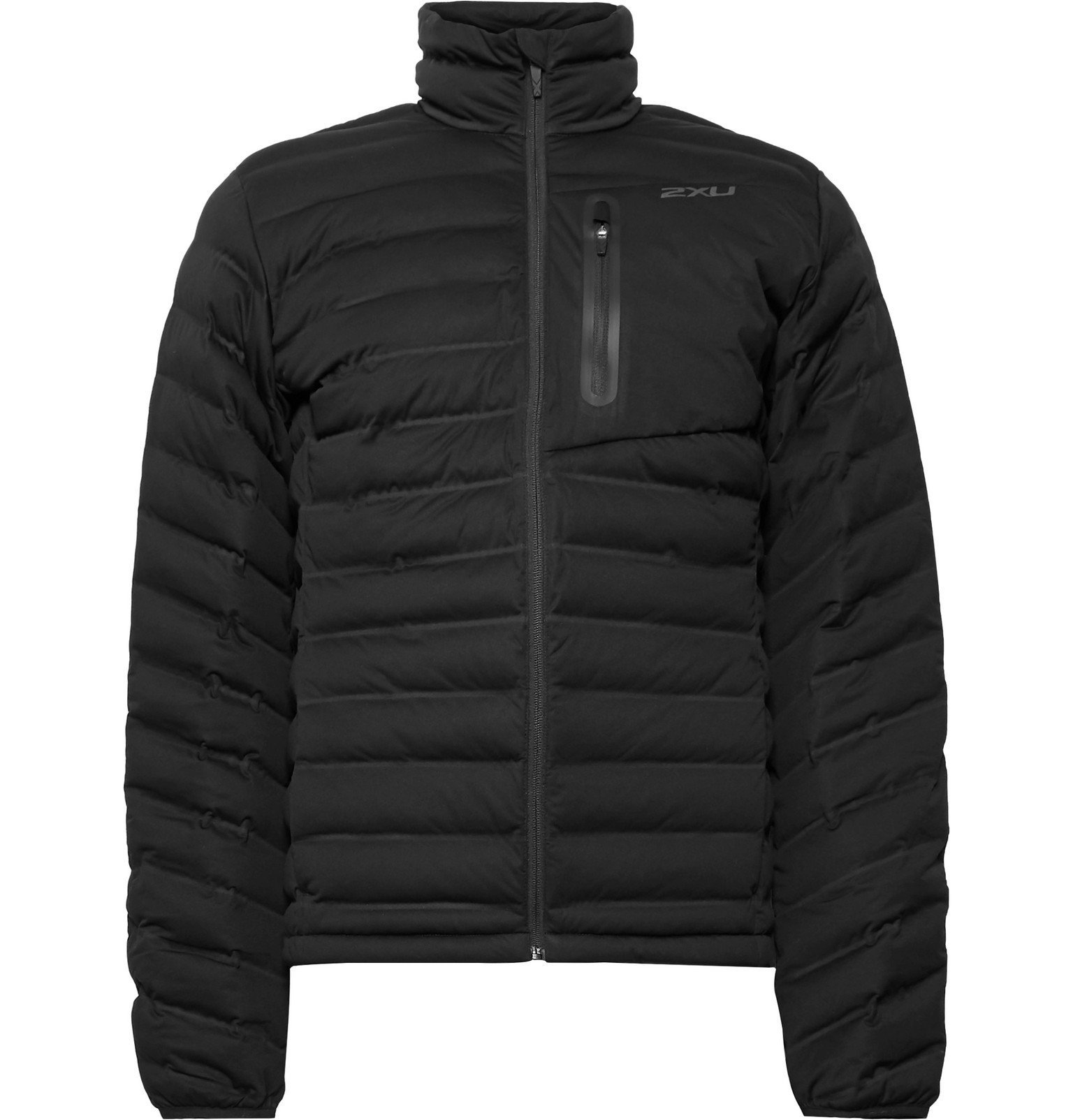 Photo: 2XU - Pursuit Slim-Fit Quilted Shell Jacket - Black