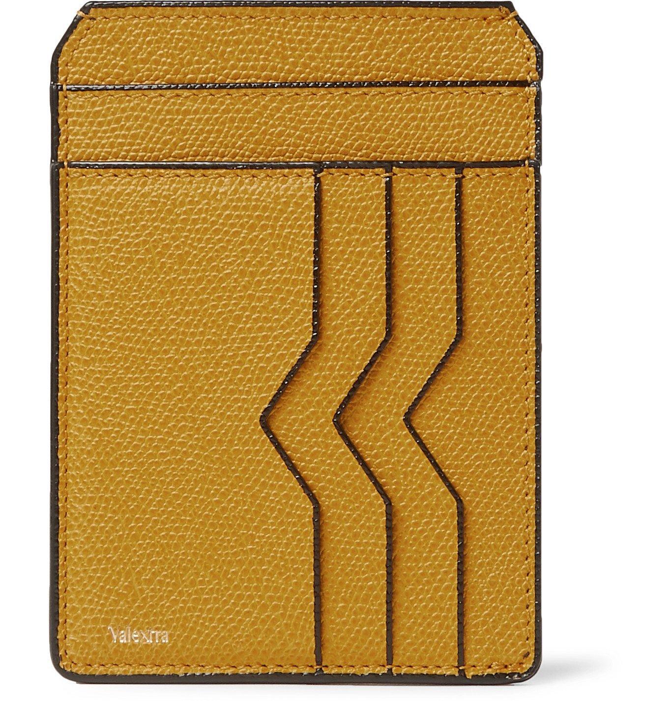 Photo: Valextra - Pebble-Grain Leather Cardholder - Yellow