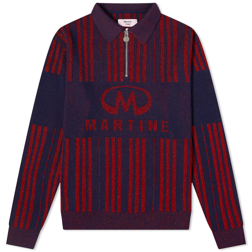 Photo: Martine Rose Stripe Logo Half Zip Knit