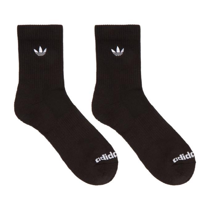 adidas Originals Three-Pack Multicolor Solid Crew Socks