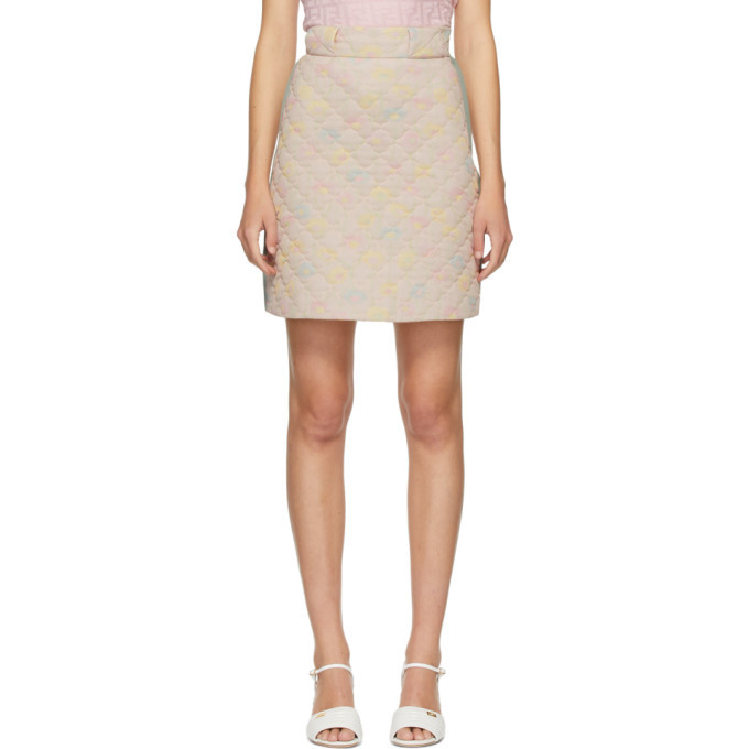 Photo: Fendi Pink Quilted Daisies Miniskirt