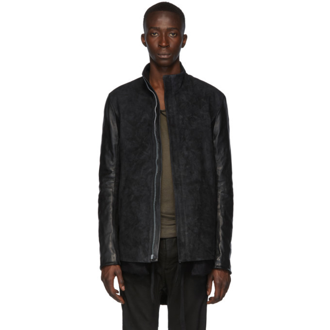 Photo: Boris Bidjan Saberi Black Leather Oil Washed Jacket