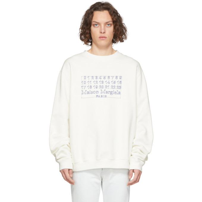Photo: Maison Margiela Off-White Diagonal Sweatshirt