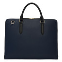 Smythson Blue Leather Slim Brief Case