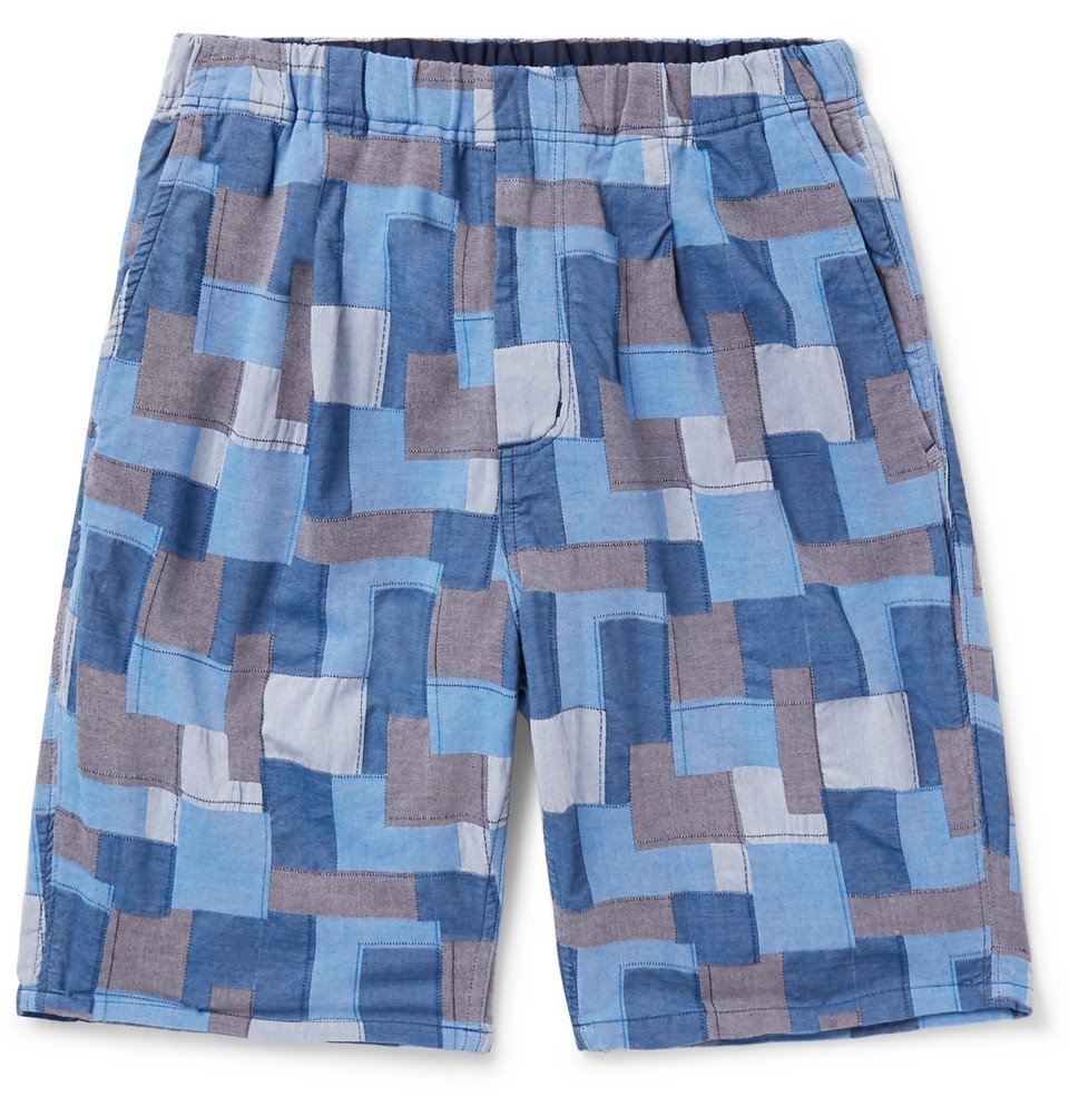 Photo: nonnative - Manager Easy Patchwork Cotton Shorts - Blue