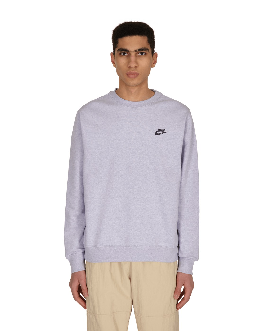 Photo: Nike Logo Crewneck Sweatshirt Purple Chalk/Dk Smoke Grey