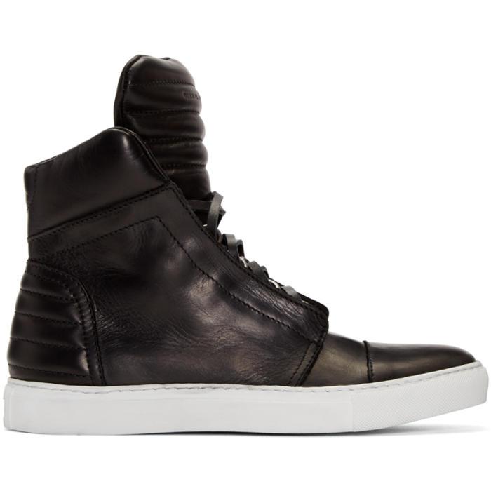Diesel Black Gold Black Leather High