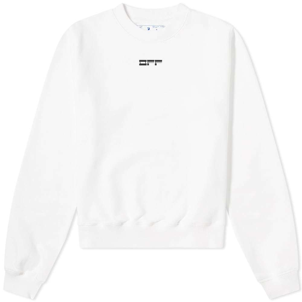 Photo: Off-White Masked Face Arrow Crew Sweat