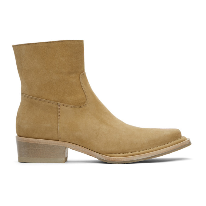 Photo: Acne Studios Beige Suede Ankle Boots