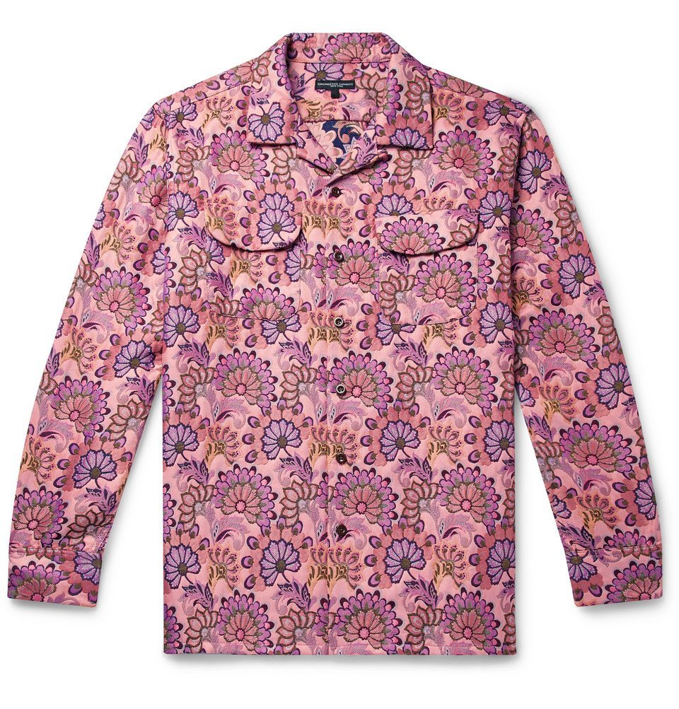 Photo: Engineered Garments - Camp-Collar Floral-Print Jacquard Shirt - Pink