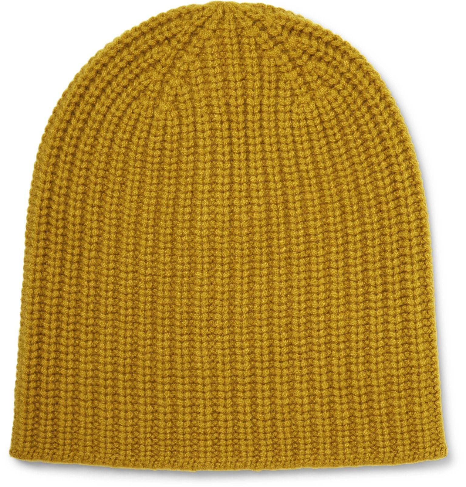 Photo: Alex Mill - Ribbed Cashmere Beanie - Yellow