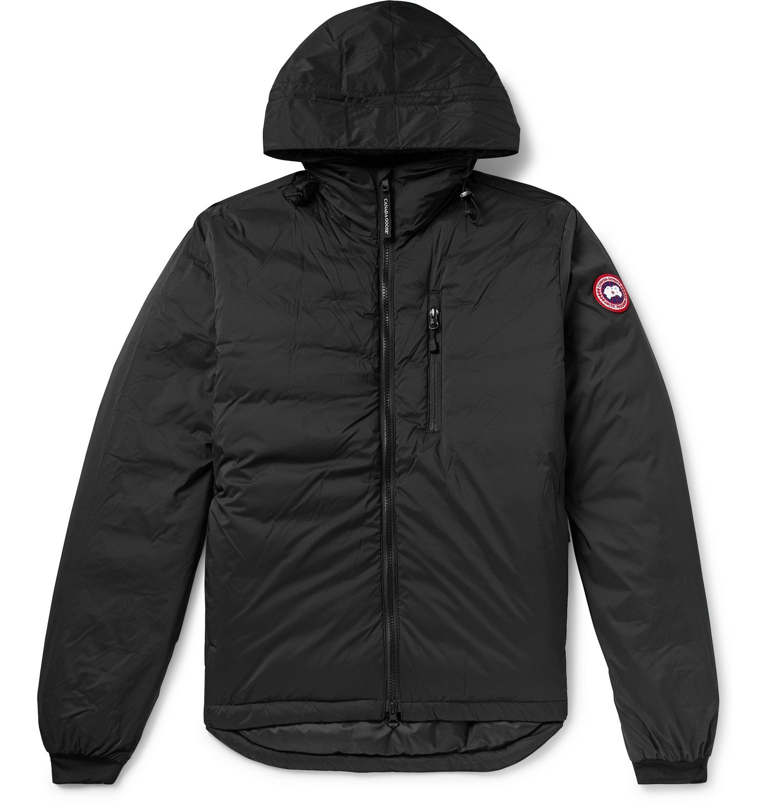Photo: Canada Goose - Lodge Slim-Fit Nylon-Ripstop Hooded Down Jacket - Black