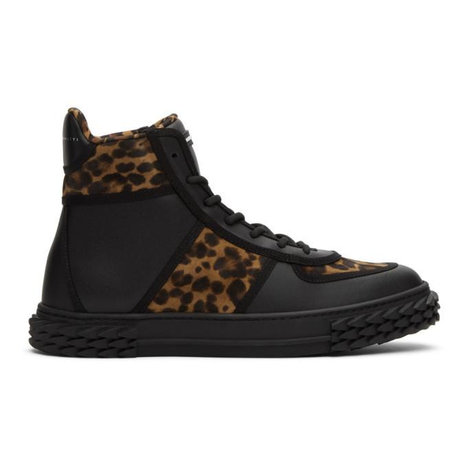 Photo: Giuseppe Zanotti Brown and Black Leopard Blabber High-Top Sneakers