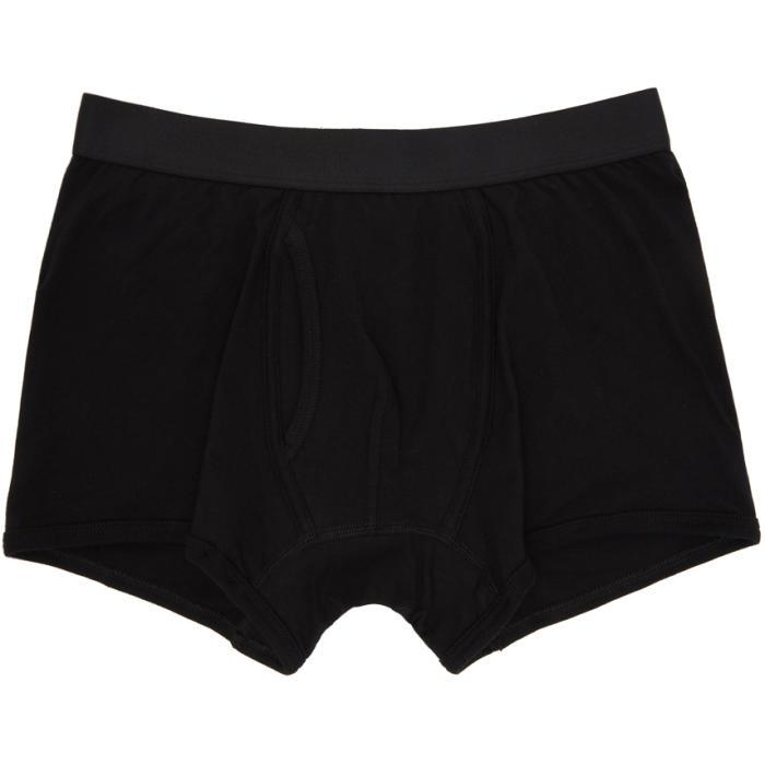 Photo: Comme des Garçons Shirt Black Plain Boxer Shorts