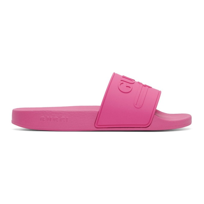 Photo: Gucci Pink Pursuit Pool Slides