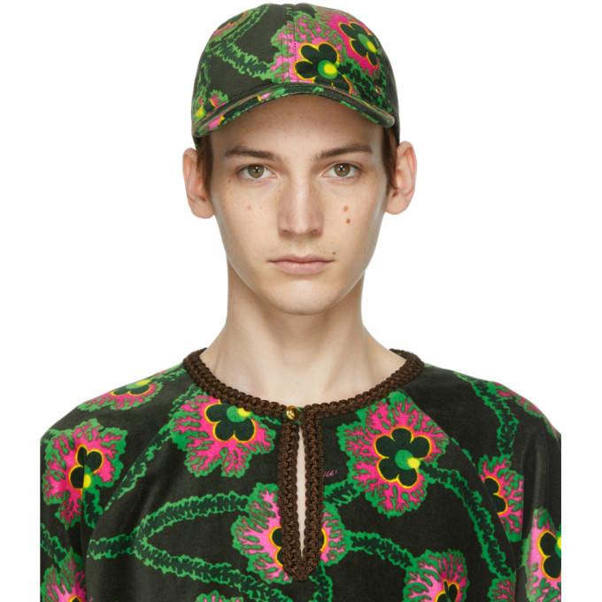 Photo: Gucci Black Ken Scott Edition Velvet Floral Cap