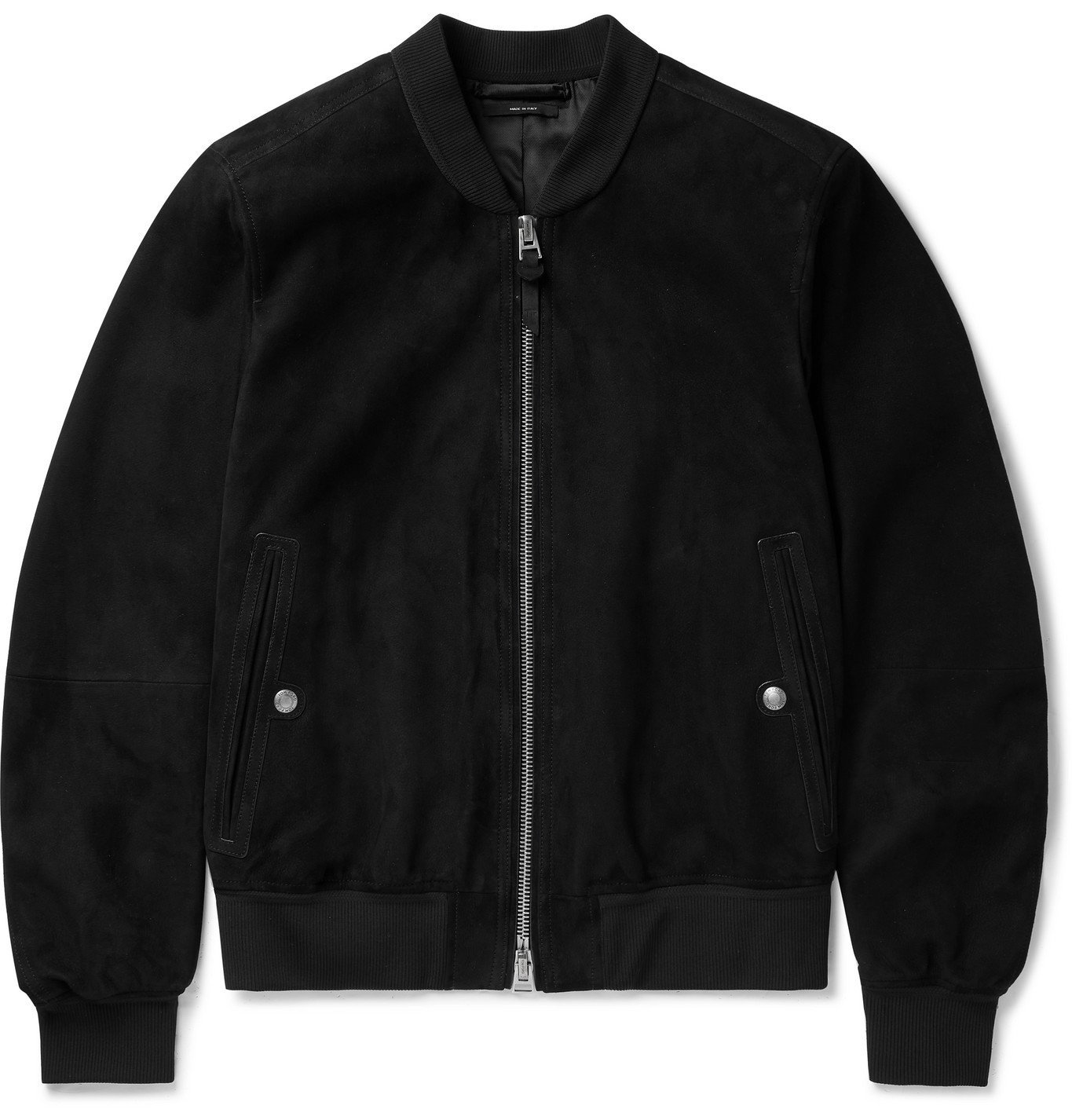 Photo: TOM FORD - Suede Bomber Jacket - Black