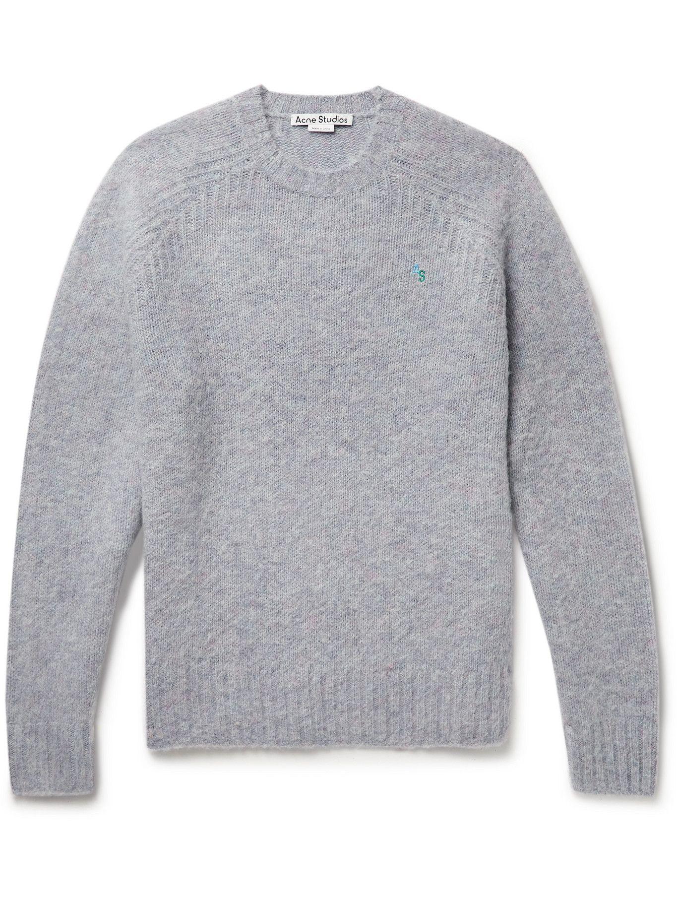 Photo: Acne Studios - Brushed Shetland Wool Sweater - Purple