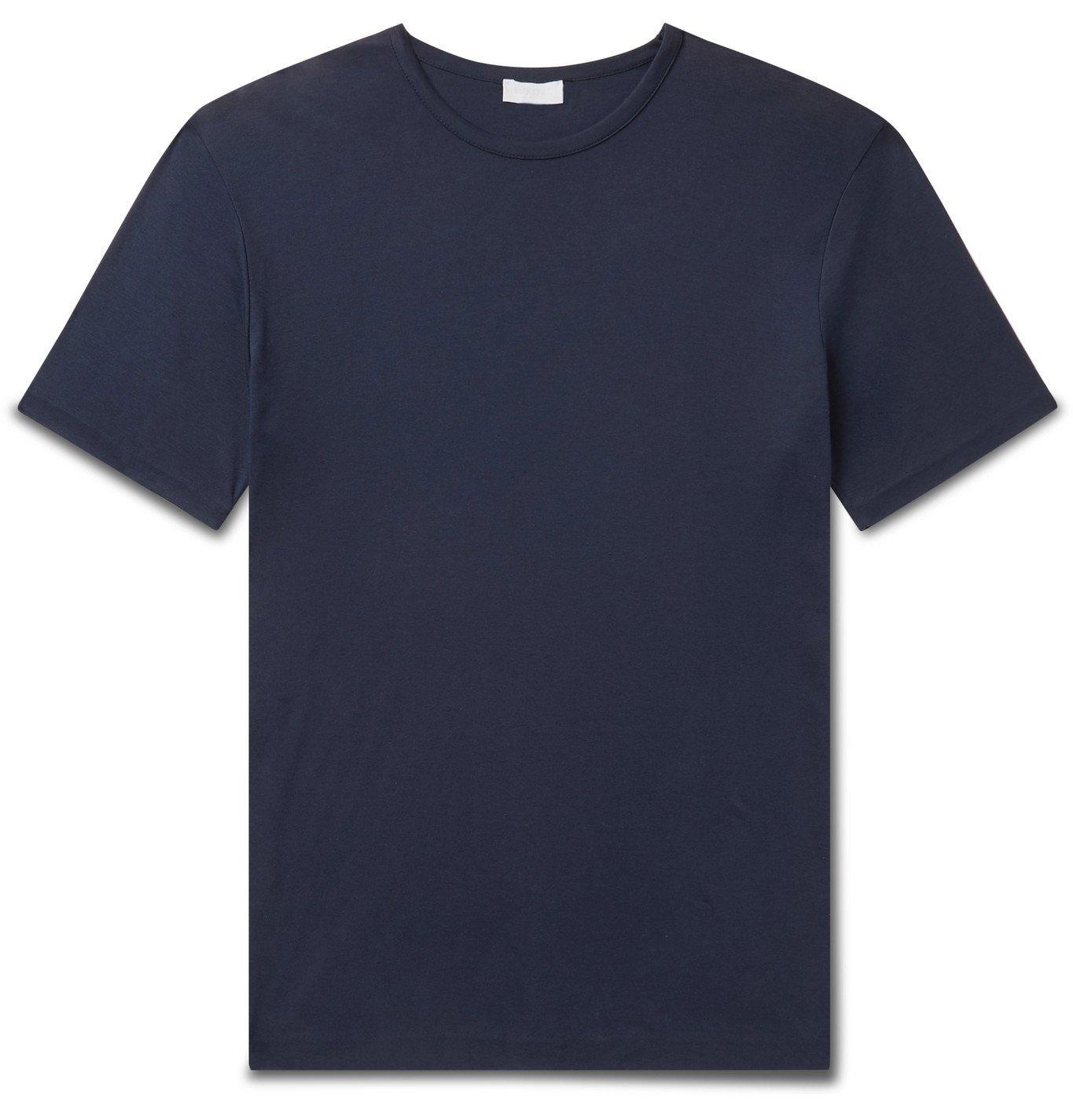 Sunspel - Sea Island Cotton-Jersey T-Shirt - Blue