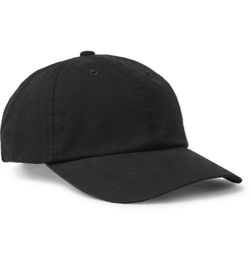 Photo: Acne Studios - Logo-Appliquéd Cotton-Twill Baseball Cap - Black