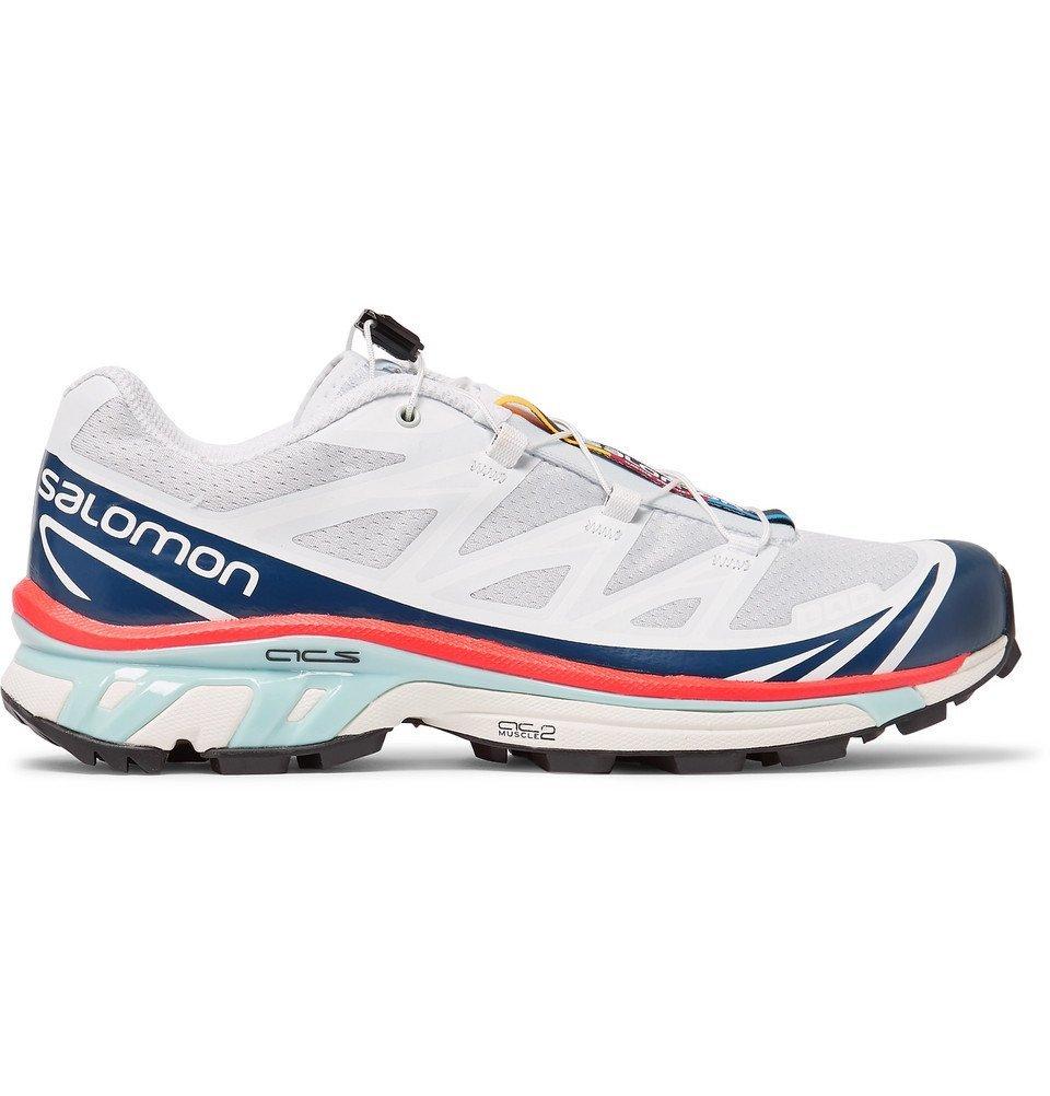 Photo: Salomon - S/LAB XT-6 LT ADV Mesh and Rubber Running Sneakers - White