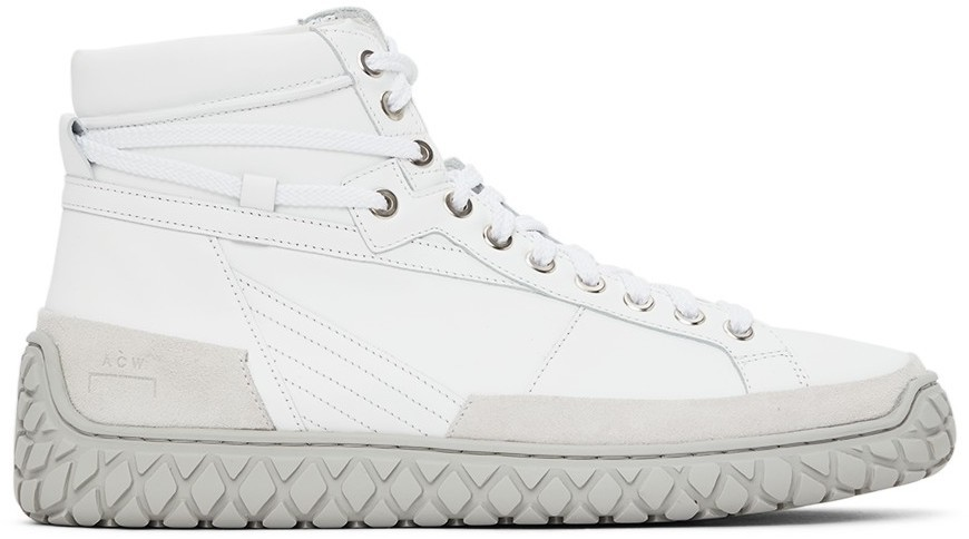 Photo: A-COLD-WALL* White Granulite Hi Sneakers