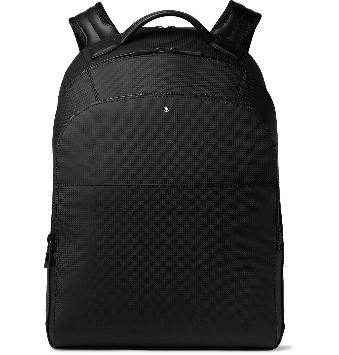 Photo: Montblanc - Extreme 2.0 Large Woven Leather Backpack - Black